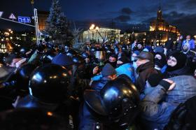 Protesters clash with police in Kiev last fall.