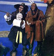 Roger Ludlow and Chief Mahackemo are depicted in The Purchase of Norwalk.