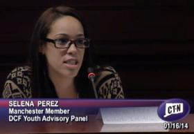Selena Perez of the DCF Youth Advisory Panel.