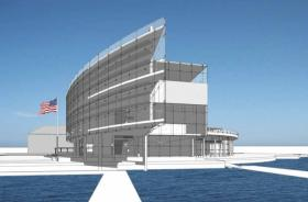 An artists rendering of the planned museum in downtown New London