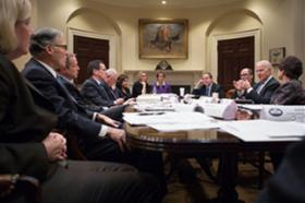 Governors met at the White House on February 21 to discuss efforts to raise the minimum wage.