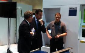 Governor Dannel Malloy tours MFG4 at the Connecticut Convention Center in Hartford two years ago.