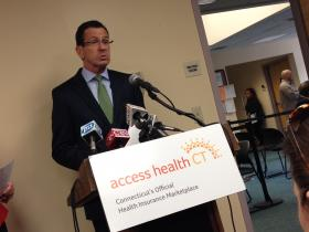 Gov. Dannel Malloy sells Obamacare as the enrollment deadline approaches.