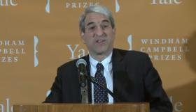 Yale President Peter Salovey announced the winners of the 2014 Windham Campbell Prizes during a press conference at the Beinecke Library.