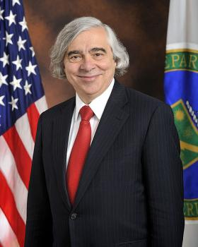 Ernest Moniz is the U.S. Secretary of Energy. He visited Hartford Monday.