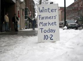 Brattleboro has a weekly winter farmer's market.