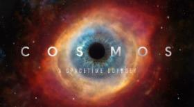 The titlecard for the television series Cosmos: A Space-Time Odyssey.