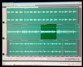 This is the finished song in multitrack view. The voice is on top, then the basic guitar line, and the on the bottom are the guitar flourishes.