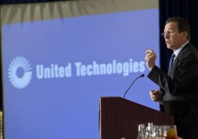 Gov. Dannel Malloy honoring United Technologies at an event hosted by the National Association of Independent Colleges and Universities in 2012.