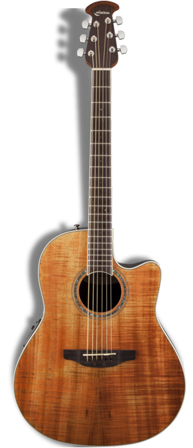 Ovation's Celebrity Standard guitar has a koa top.