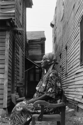 """Ann """"Mama Cookie"""" Cook, 1958. Gelatin silver print."""