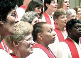 The Asylum Hill Congregational Church choir.