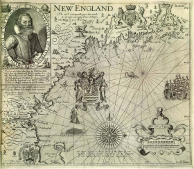 John Smith's 1616 map of New England is the first printed map devoted specifically to this region.
