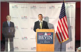 Matt Bevin is running for the U.S. Senate in Kentucky, challenging Senate Minority Leader Mitch McConnell in Tuesday's primary.