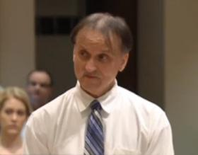 Richard Roszkowski at his sentencing last week.  Roszkowski was sentenced to death after his conviction in a 2006 triple murder.