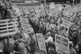 Civil rights march on Washington, D.C. in 1963