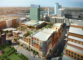 A rendering of the planned downtown casino, MGM Springfield.