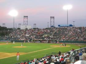 The New Britain stadium for the Rock Cats.