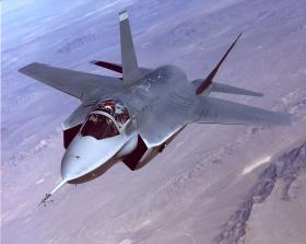 The F35 on a test flight