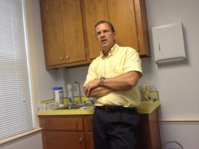 Dr. Doug Gerard in his New Hartford office.