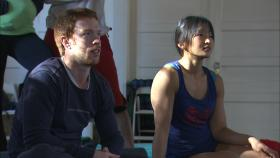 "Shawn Fitzgerald Ahern and Eriko Jimbo in rehearsals for ""On The Nature of Things."""