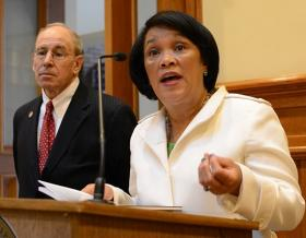 New Haven Mayor Toni Harp in a file photo.