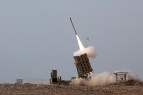 A missile from the Israeli Iron Dome.