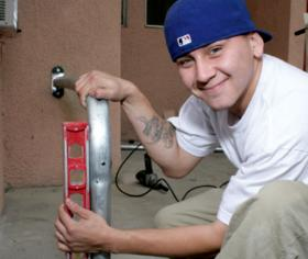 Anibal Torres, participant in a YouthBuild program in California.