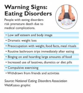 People with eating disorders risk premature death.