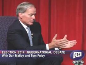 Republican Tom Foley at the Norwich debate.