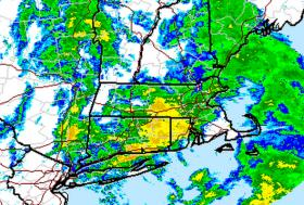 Heavy rain is moving through Connecticut on Wednesday.