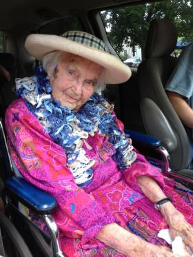 106-year-old Anna Coit of North Stonington was the Grand Marshal for the Bicentennial Parade