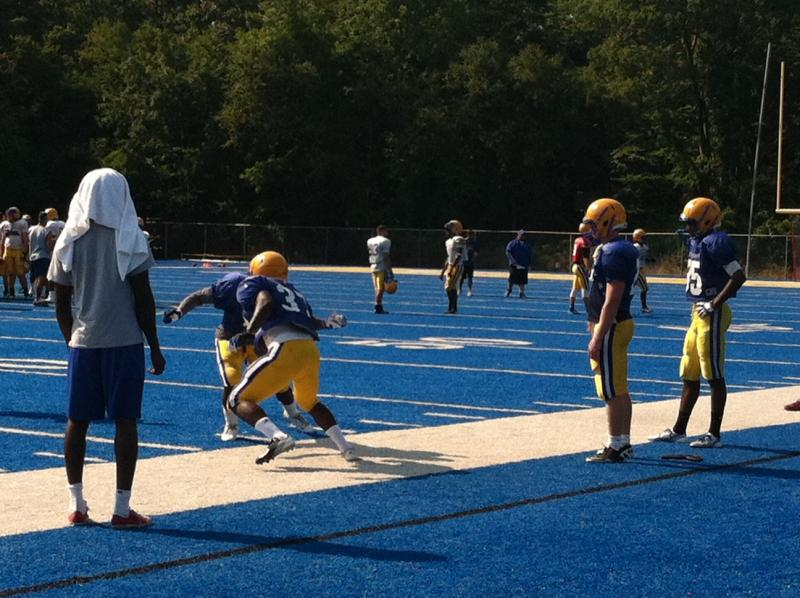 The UNH Chargers scrimmage