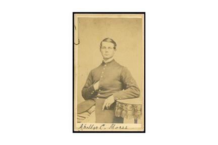 Corporal Apollos C. Morse, Co. A, Second Connecticut Heavy Artillery. Photograph by J. L. Judd, Litchfield, 1863 or 1864.