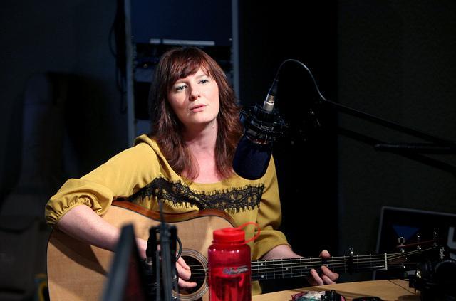 Kate Callahan in studio.