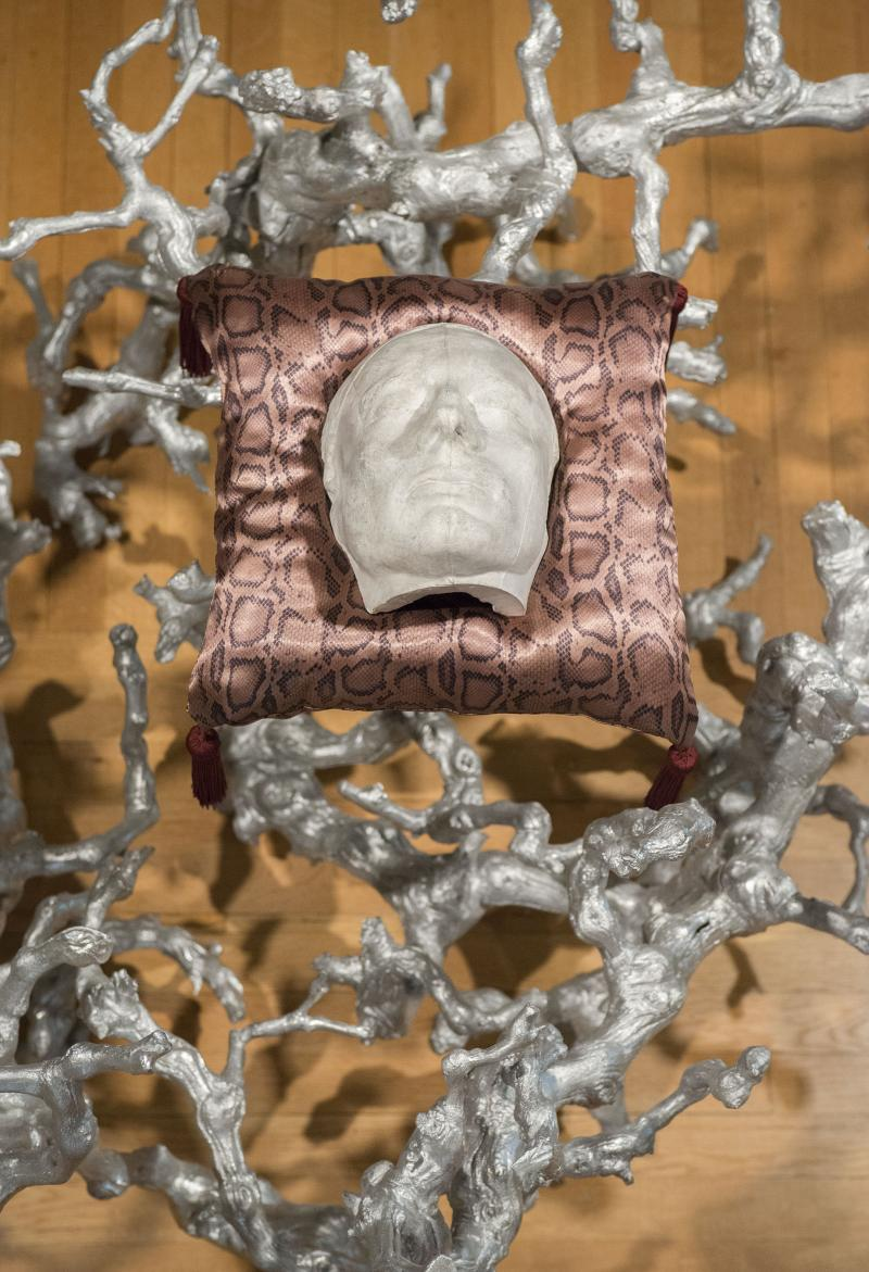 "Italian, 19th century, ""Death Mask of John Keats."" Virgil Marti, ""Monstrance."" Photo: Allen Phillips/Wadsworth Atheneum."