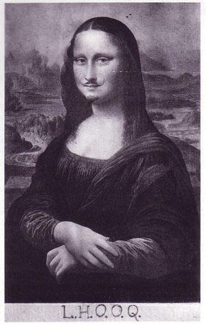 """Marcel Duchamp's """"Mona Lisa""""."""