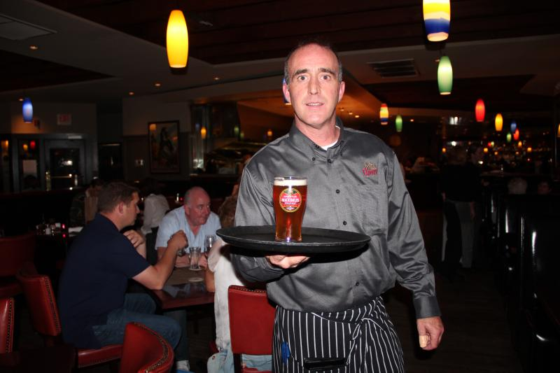 Michael Corcoran, waiter at Max Amore in Glastonbury.