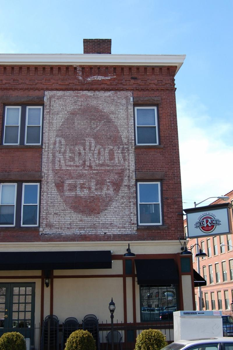 Red Rock Cola ghost sign in Hartford