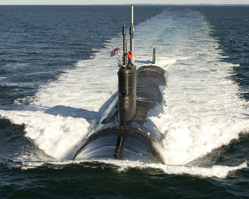 Virginia class submarine made by Electric Boat.