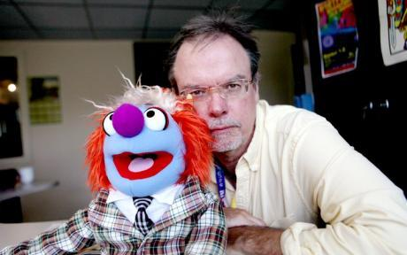 Colin McEnroe and WNPR Mascot Clarence