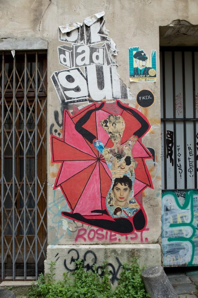 Unidentified Dada art in Paris, France.