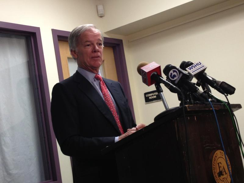 Tom Foley announces he is exploring a run for governor in 2014.