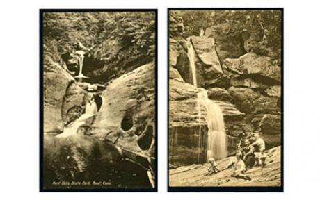 Kent Falls State Park, Kent, Conn. Postcards, ca. 1920s.