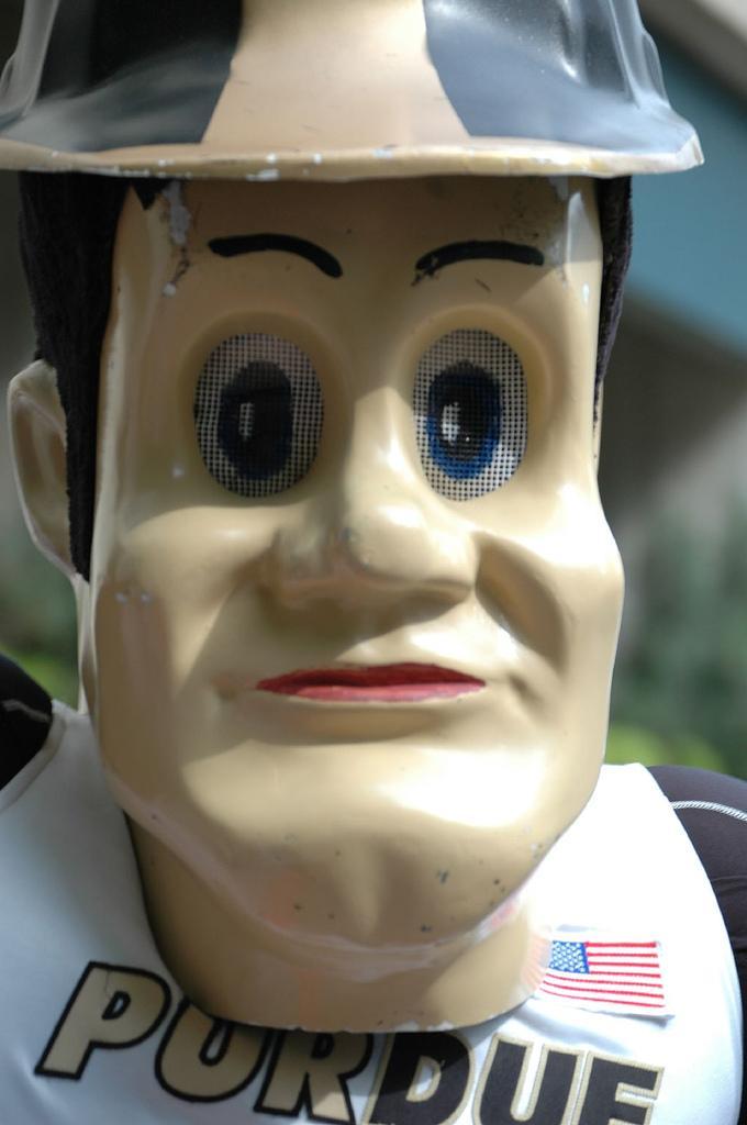 Purdue Pete Stares Into Your Soul