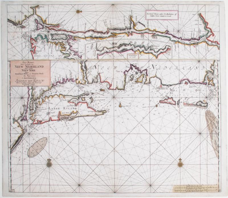Chart of the Coast of New York and New England.  Published by Johannes van Keulen, Amsterdam, 1687.