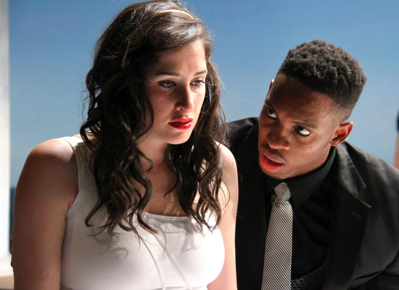 "Actors Marisa Desa and Colby Lewis in ""Big Love."""
