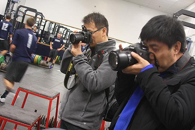 The Chinese delegation will learn about injury rehabilitation and other concerns facing athletes.