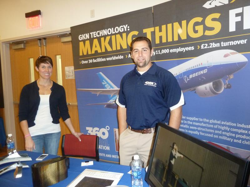 Students met employees of GKN Aerospace.