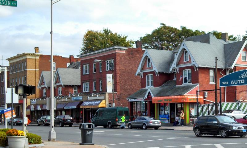 Park Street in Hartford is home to many Hispanic-run businesses.